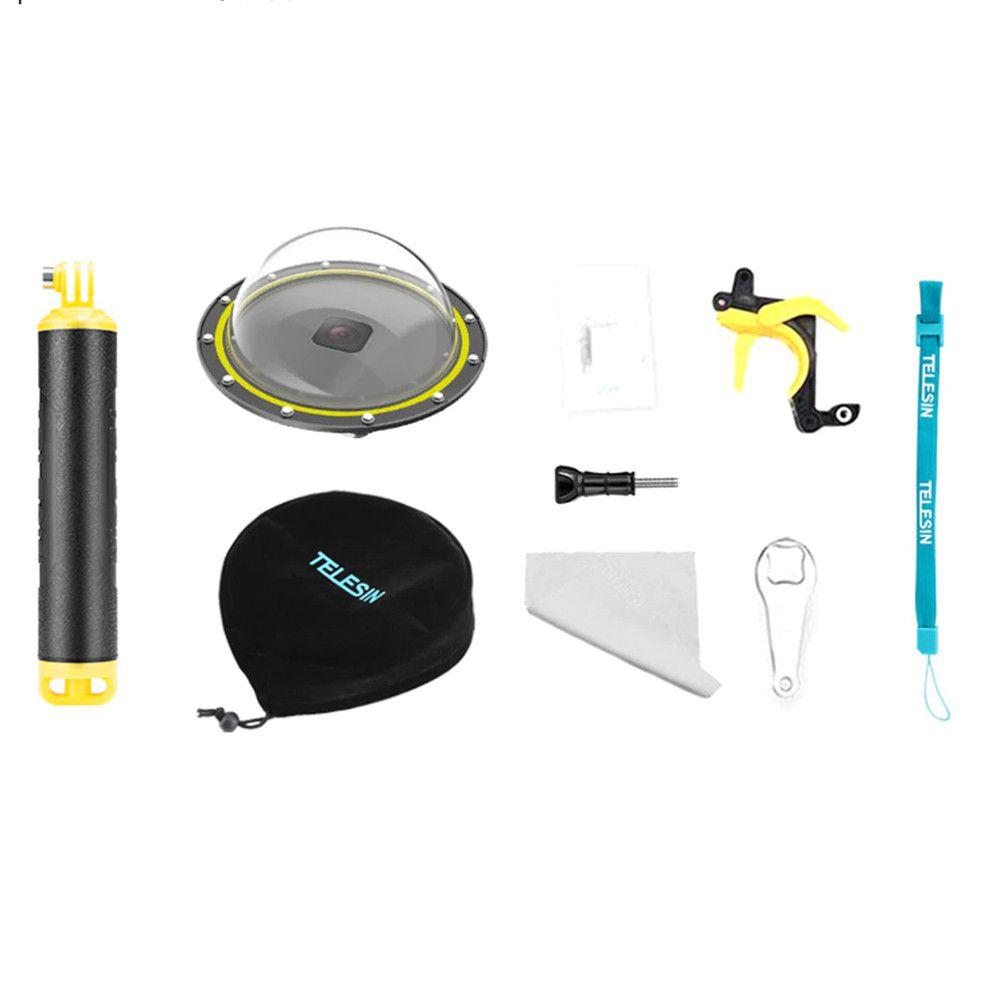 Dome 6' com estanque, bastão e  gatilho GoPro Hero 8 Black