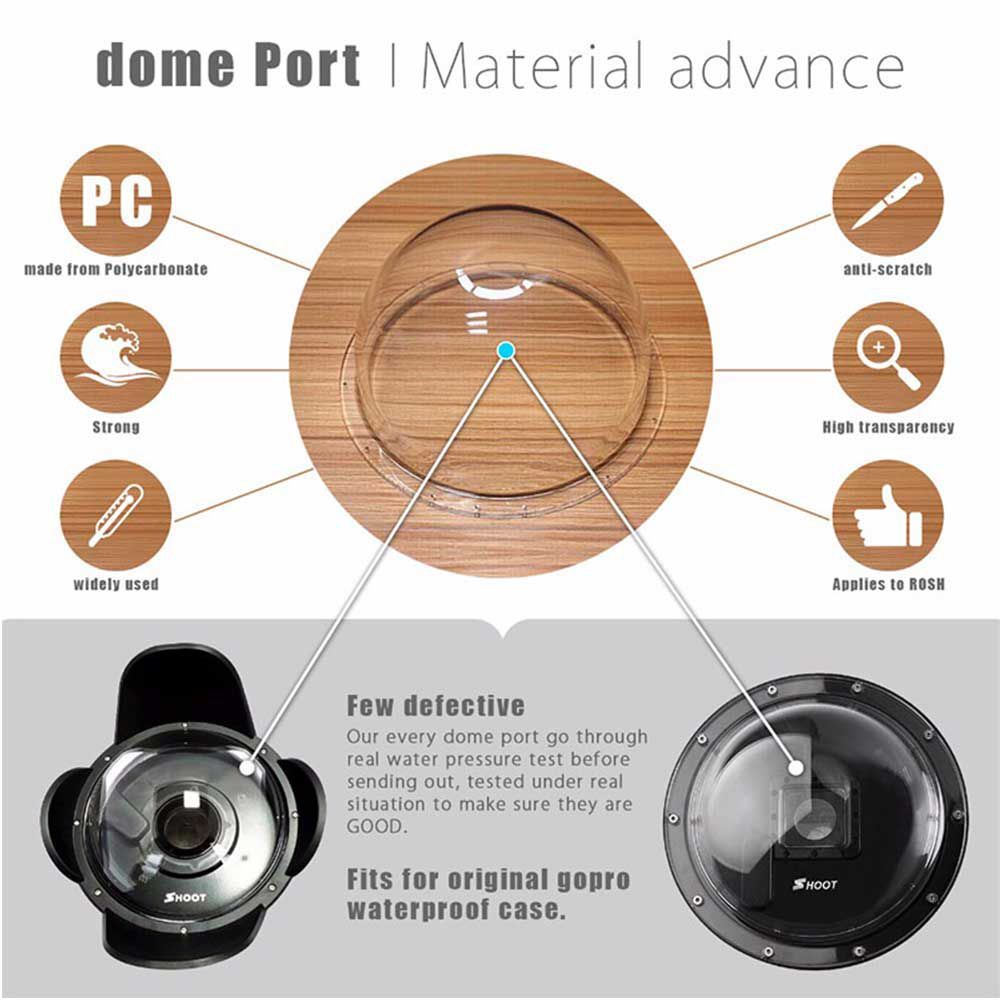 Dome 6 Polegadas Shoot para GoPro Hero5/6/7 Black