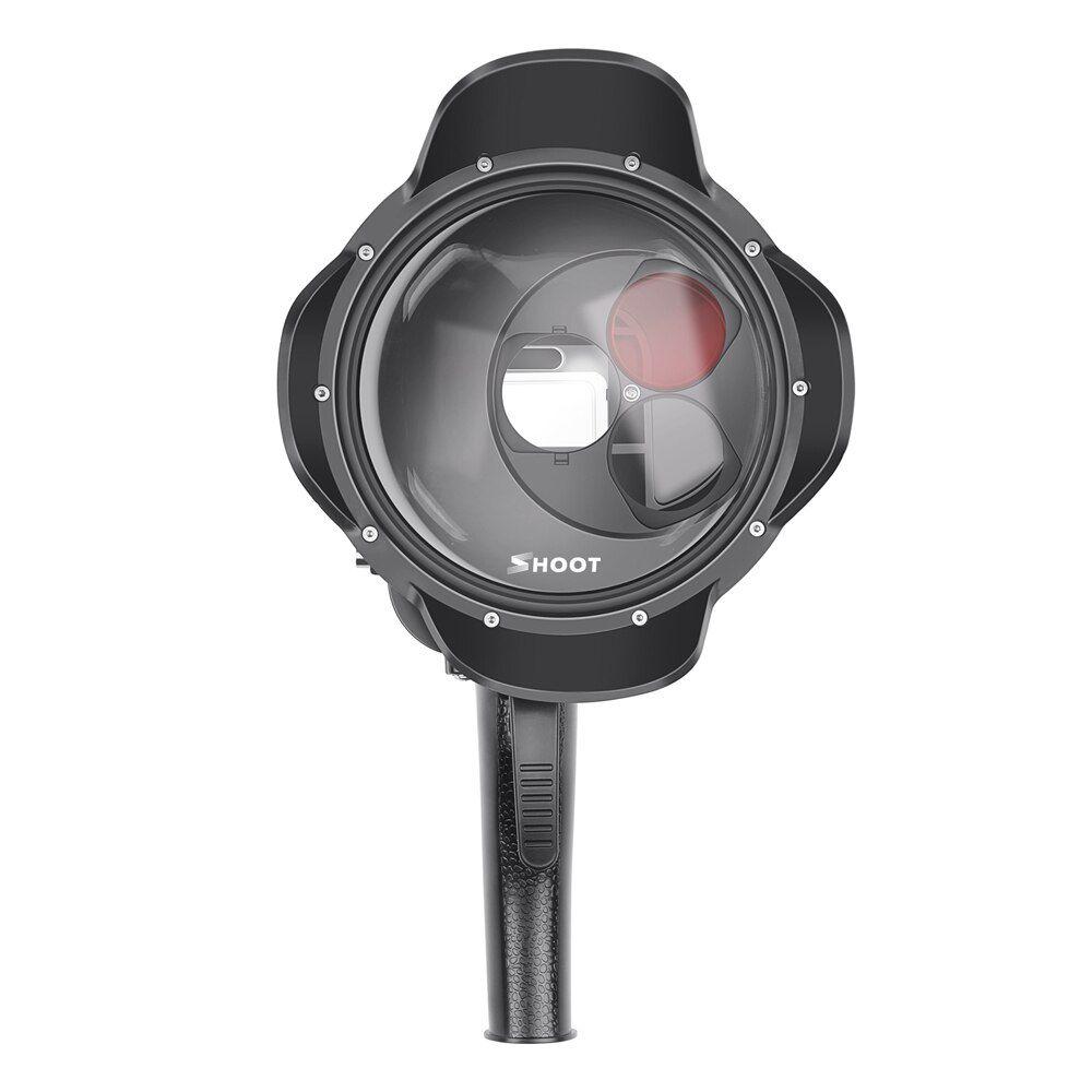 Dome com 3 Filtros Shoot 6' com Estanque para Câmeras GoPro Hero 567 Black