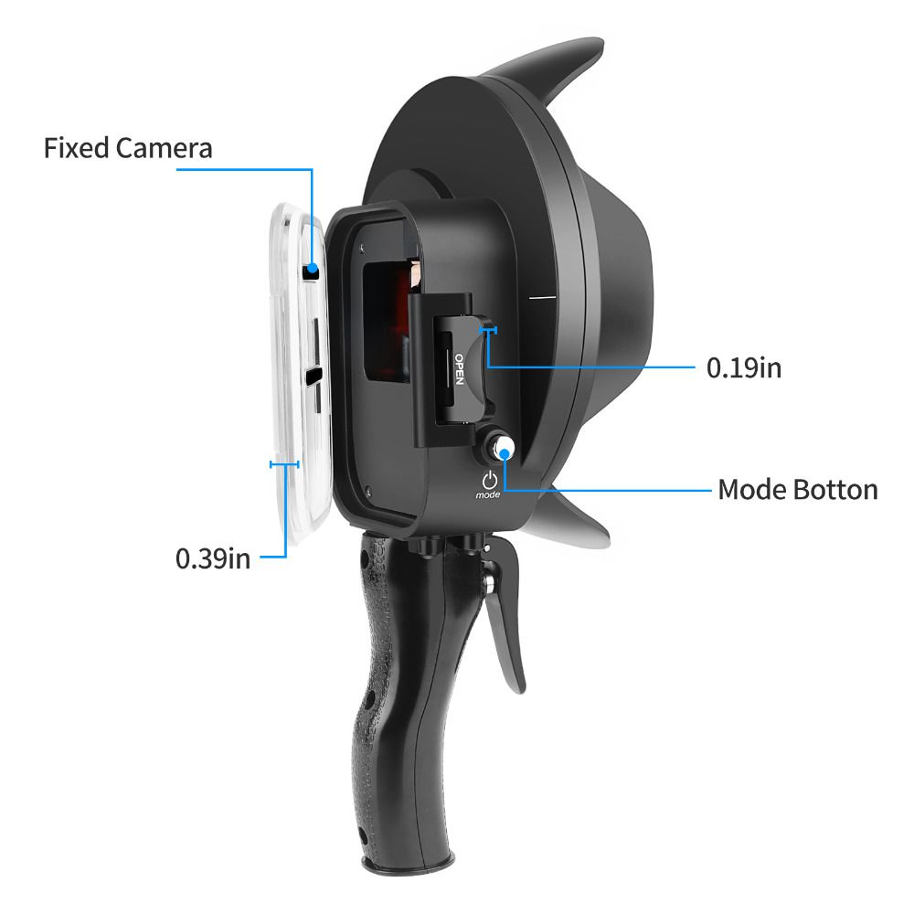 Dome com 3 Filtros Shoot 6' com Estanque para Câmeras GoPro Hero 567 Black