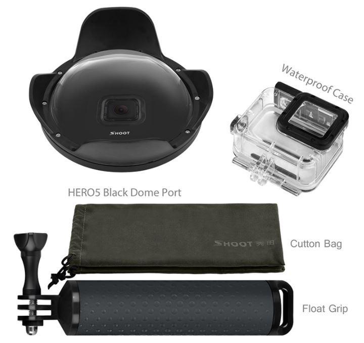Dome Shoot 6' com estanque GoPro Hero 5/6 Black