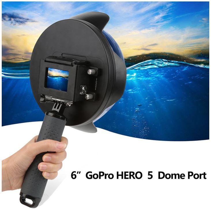 Dome Shoot 6' com Estanque para Câmeras GoPro Hero 5, 6, 7 Black