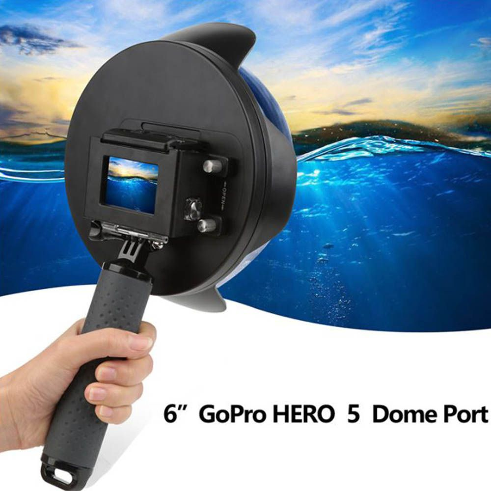 Dome Shoot 6' com Estanque para Câmeras GoPro Hero 5, 6, 7 Black