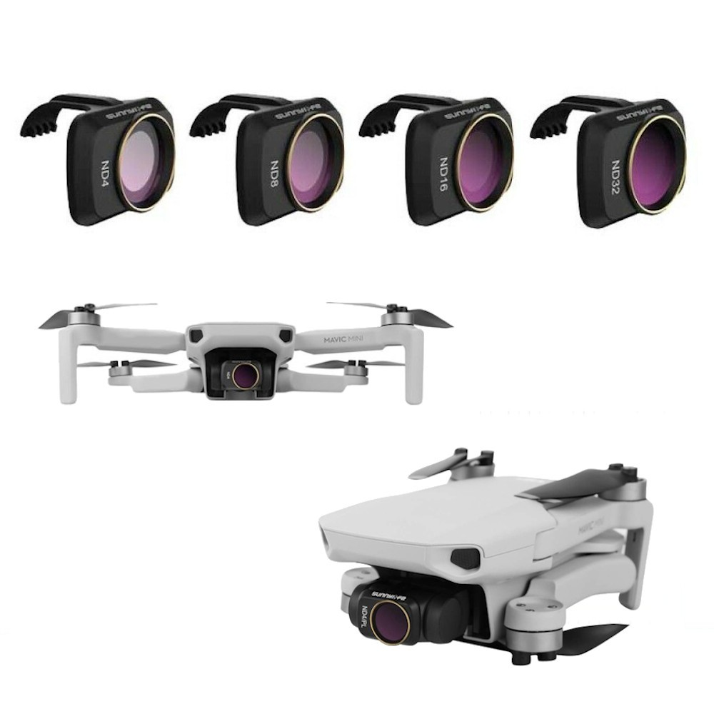 Filtro de lente 4pcs ND 4, 8, 16, 32 para drone Mavic Mini