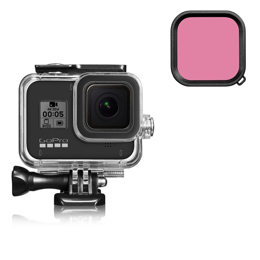 Filtro de Mergulho Rosa para Câmeras GoPro Hero 8