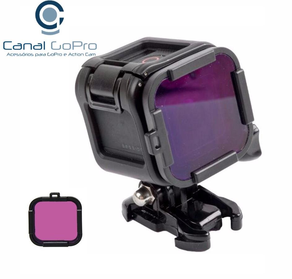 Filtro de Mergulho para GoPro Hero Session 4, 5 - Magenta