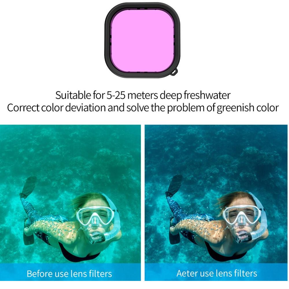 Filtro Mergulho Magenta para GoPro 9