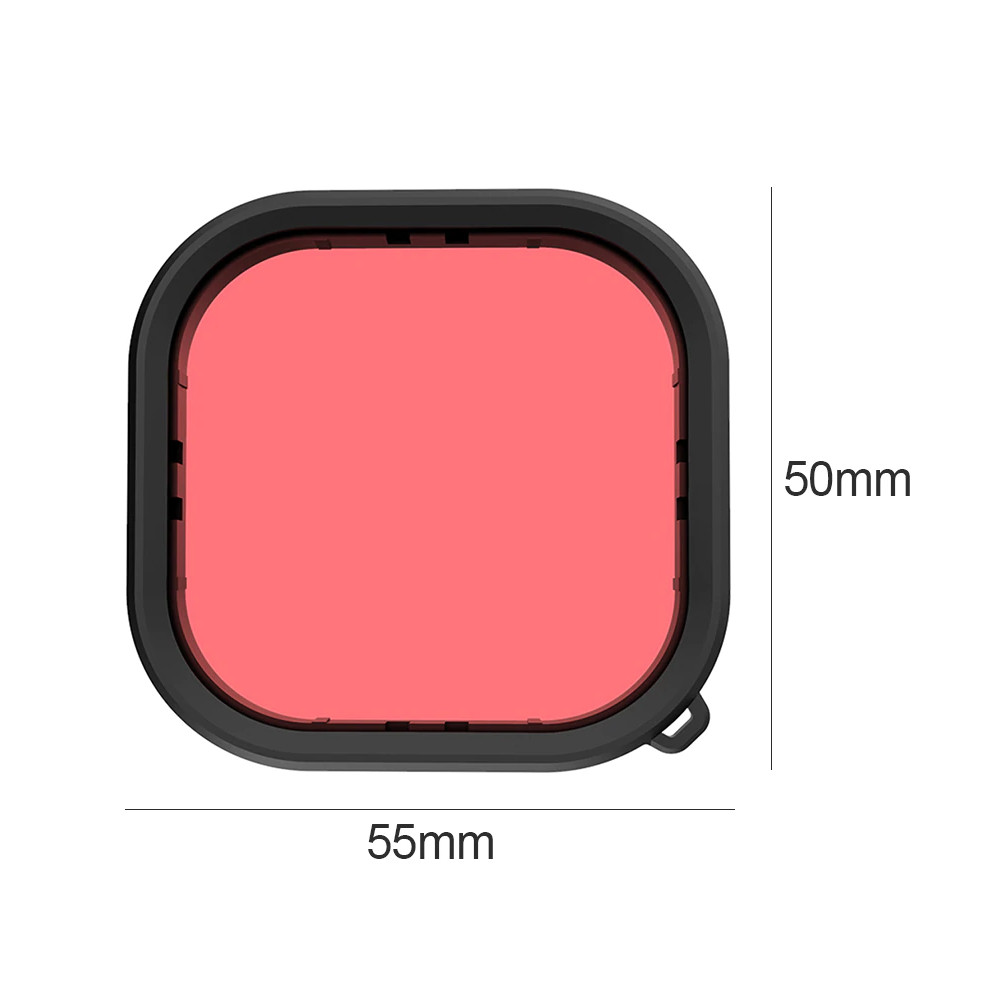 Filtro Mergulho Vermelho Claro para GoPro 9 e 10