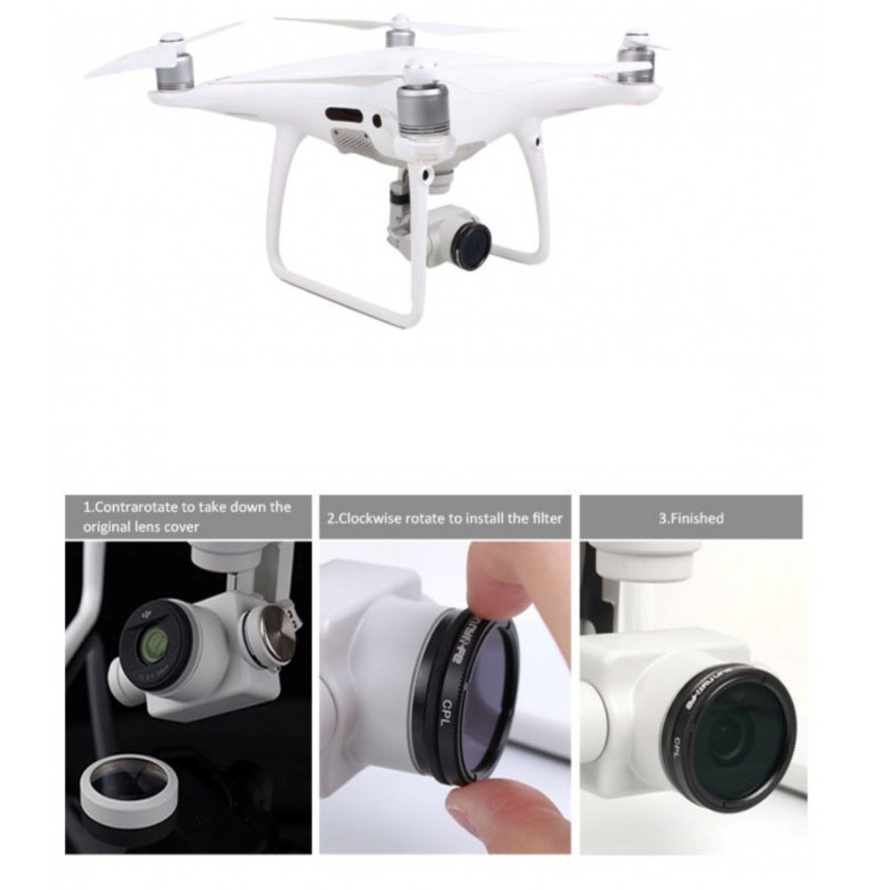 Filtro ND 4 para Drone DJI Phantom 4 Pro /Pro+ e 4 Advanced /Advanced+