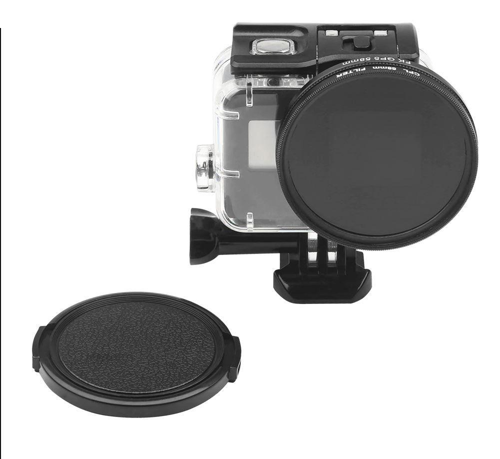 Filtro Polarizado CPL 58mm com tampa da Lente para GoPro 5, 6, 7