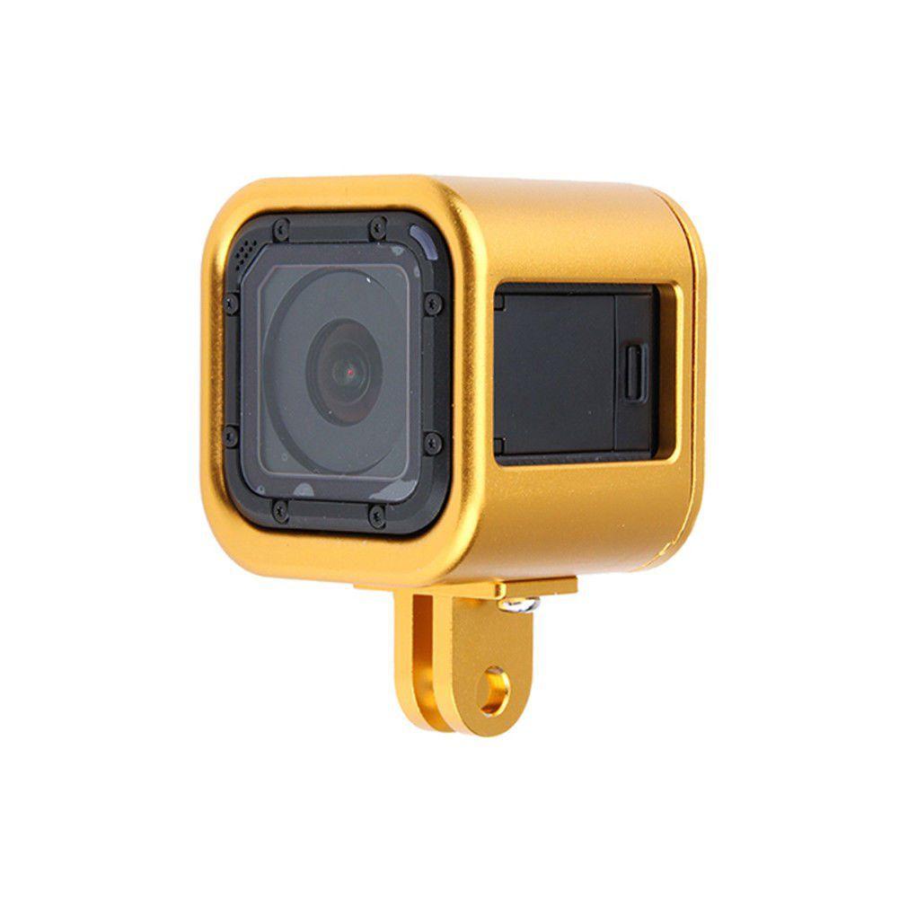 Frame Armação em alumínio para Câmeras GoPro Session 4, 5 - Dourado