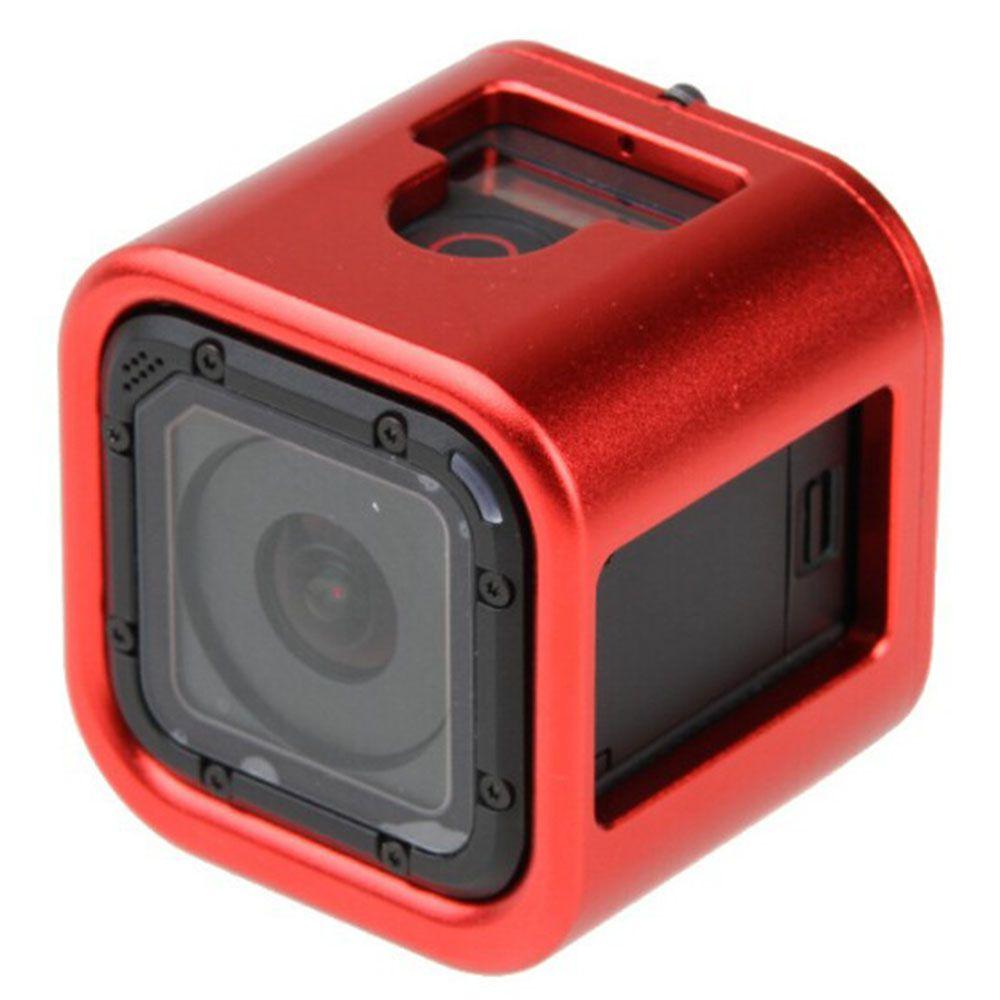 Frame Armação Moldura em alumínio para GoPro Session 4,5 - Vermelho