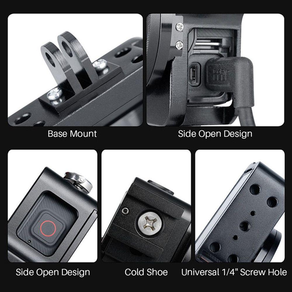 Frame Case Proteção Alumínio + Lente Uv GoPro Hero 7 Black - Imp. Hero 7