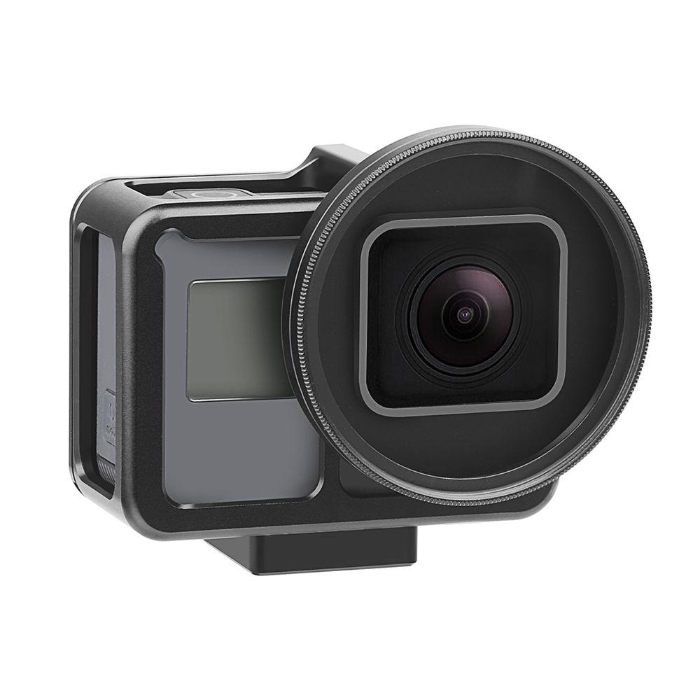 Frame em Alumínio + Lente Uv 52mm Gopro 7 Black