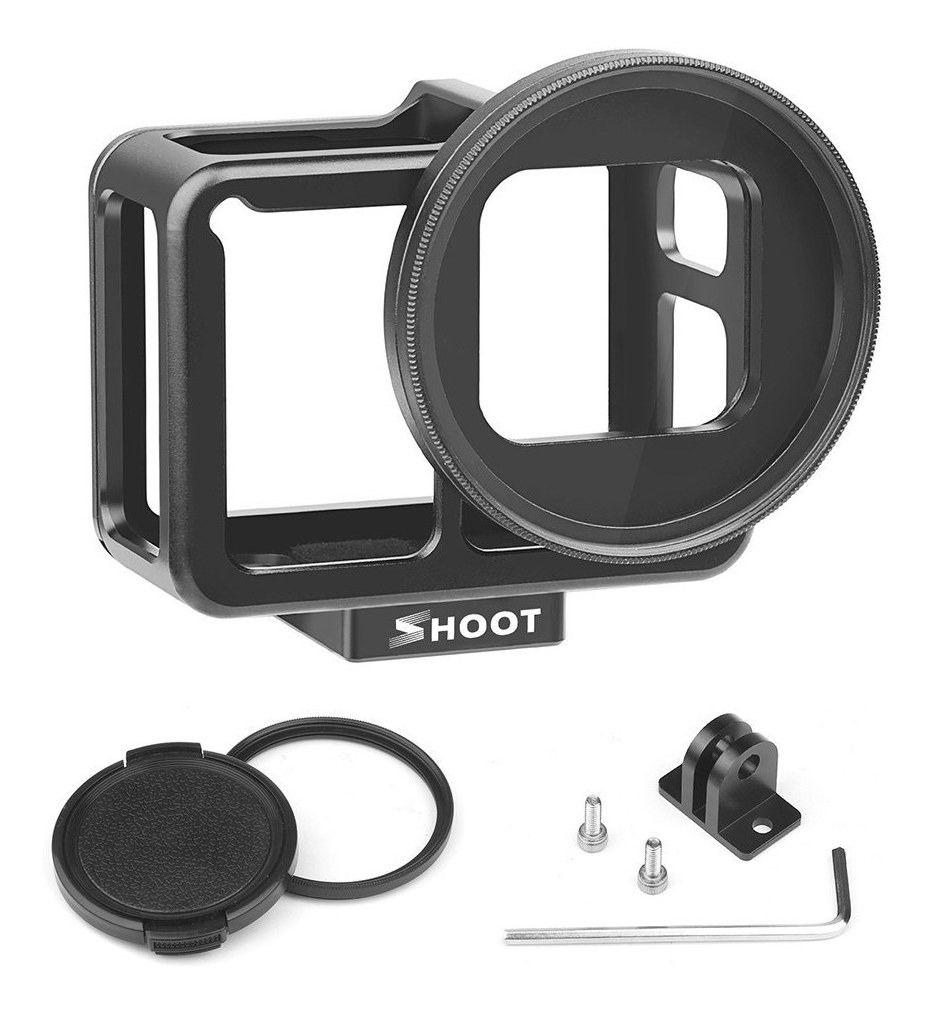Frame em Alumínio + Lente Uv 52mm P/ Camera Shoot