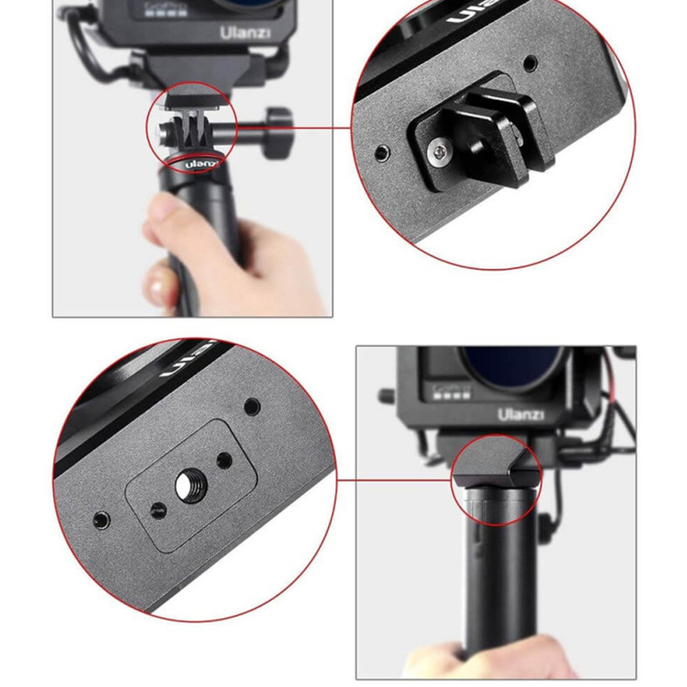 Frame em Alumínio para GoPro Hero 9 e 10 Com Encaixe de Microfone - Ulanzi