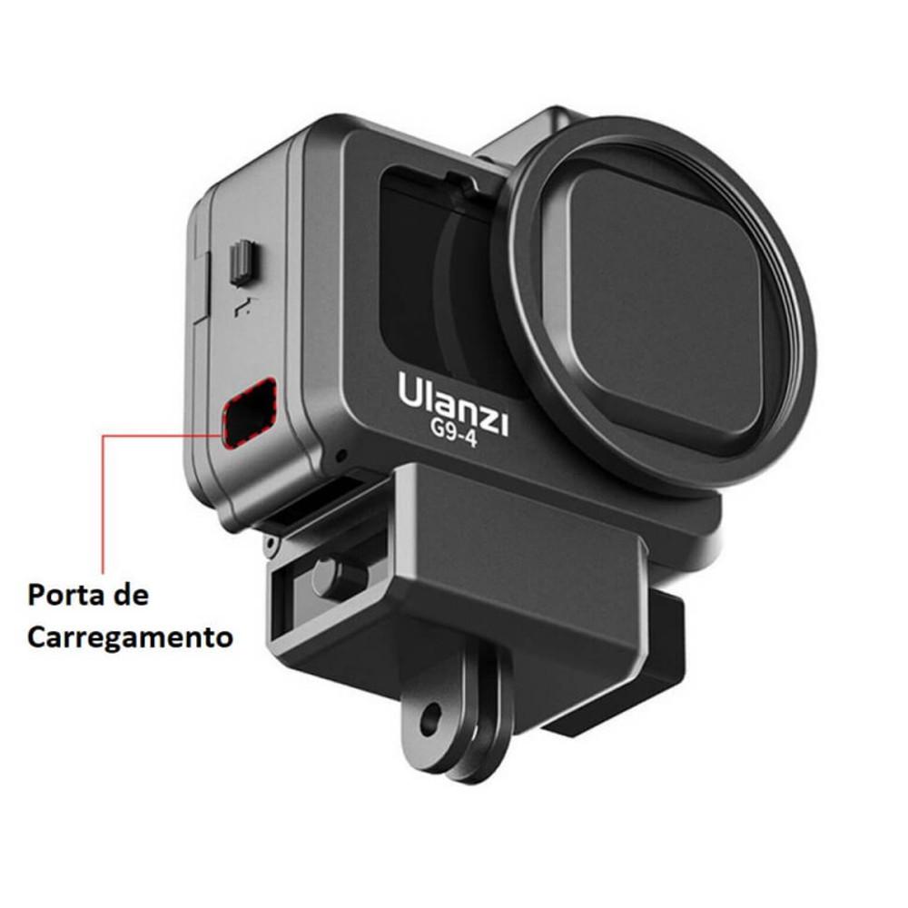 Frame Moldura Com Encaixe de Microfone Externo para Hero 9 e 10 - Ulanzi