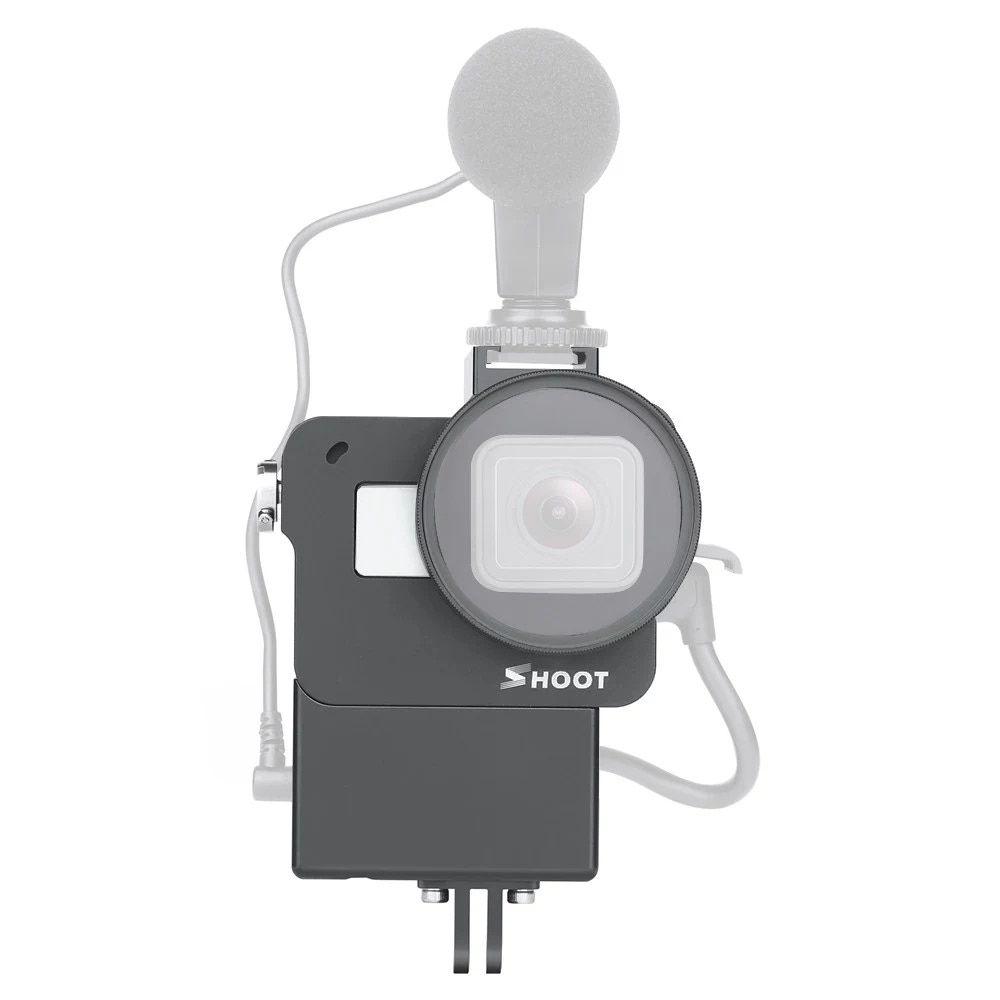 Frame Moldura GoPro 567 Black Aluminio com Suporte Mic Flash
