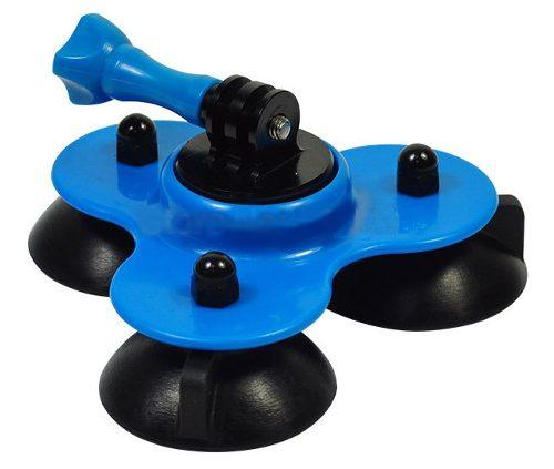 Gopro Acessório Ventosa Carro Sucção Monope Tripode + Parafuso + Adaptador Hero 2-6 az