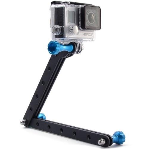 Extensor Braço em alumínio para Câmeras de Ação GoPro Hero SJCam Xiaomi - Azul