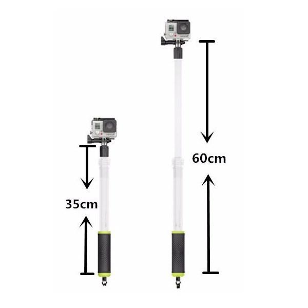 Bastão Flutuante Retrátil Prova D'água para Câmeras de Ação GoPro Hero SJCam Xiaomi