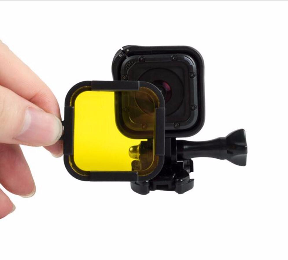 Filtro de Mergulho para GoPro Hero Session 4, 5 - Amarelo