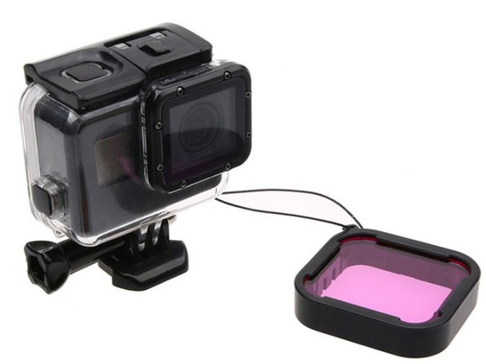 Filtro para Mergulho Magenta para GoPro Hero 5, 6, 7