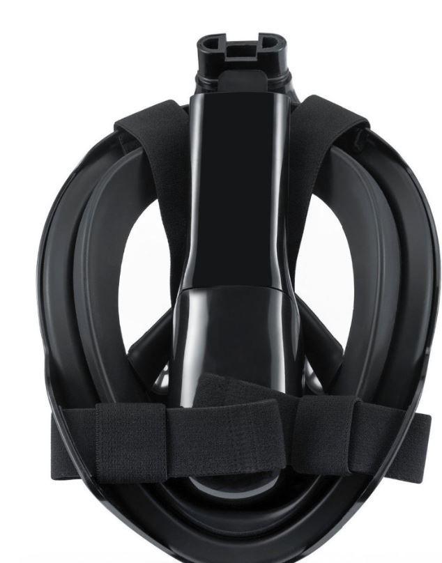 Máscara De Mergulho Surface Preta L/XL com adaptador para Câmeras de ação