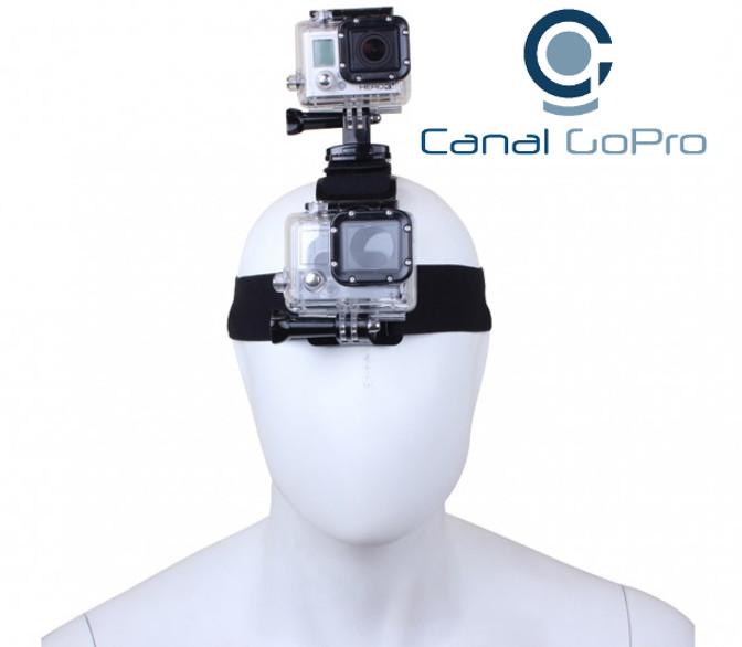 Gopro Acessórios Suporte Duplo Cabeça 360graus Head 3,3+,4