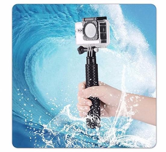 Bastão Retrátil Prova D'água 19-49cm para GoPro Hero SJCam Xiaomi - Azul