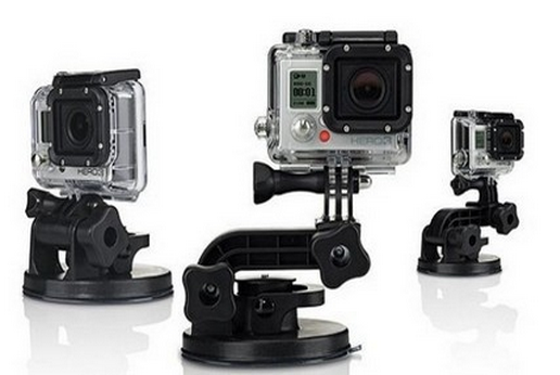 Suporte Ventosa Carro Suction Cup para Câmeras de Ação GoPro Hero SJCam Xiaomi