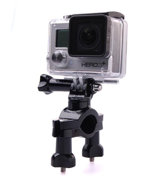 Suporte Mount 360° de Guidão/Cilindro/Bike para Câmeras de Ação GoPro SJCam Xiaomi