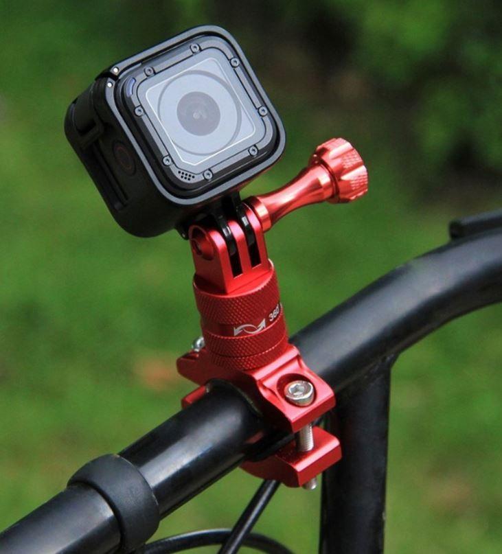 Gopro Suporte Aluminio para Bike/Moto/Cubos 360 - Vermelho