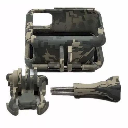 Gopro Suporte Armação Moldura Frame Camuflado Cinza Hero 5/6