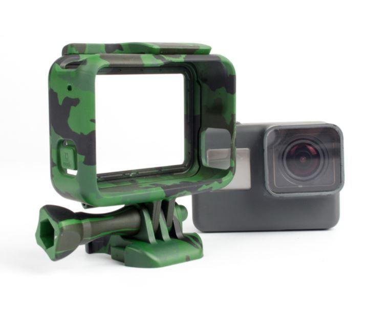 Gopro Suporte Armação Moldura Frame Camuflado Verde Hero 5/6