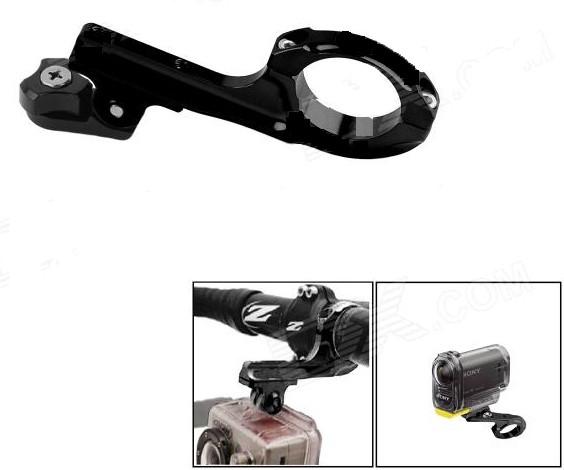 Gopro Suporte Ride em Aluminio para Bike/Moto/Cubos Hero 2-6 - Preto