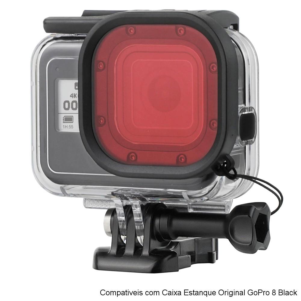 Kit 3 filtros para Caixa Estanque Original GoPro 8 Black