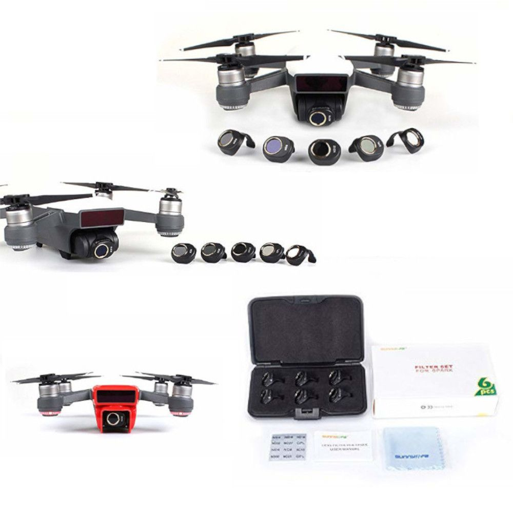 Kit 6 Filtros MCUV CPL ND4 ND8 ND16 ND32 - Drone DJI Spark