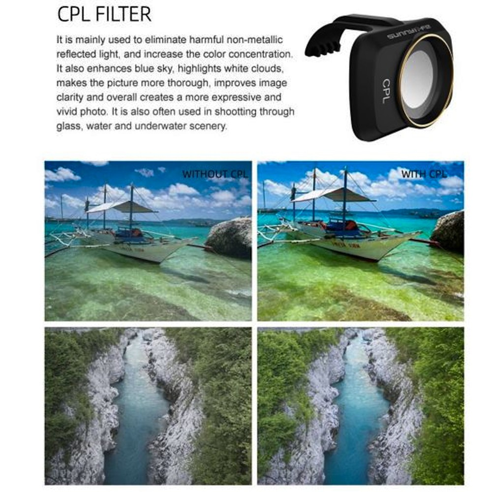 Filtro de lente 6pcs UV, CPL, ND 4/8/16/32 para drone Mavic Mini