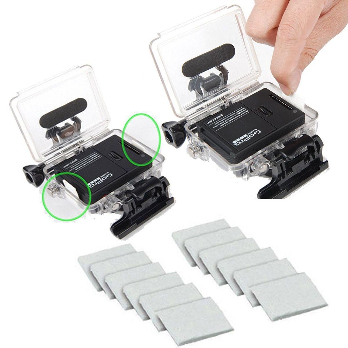 Kit Anti-fog Anti-embaçante 12un para Câmeras GoPro SJCam Xiaomi