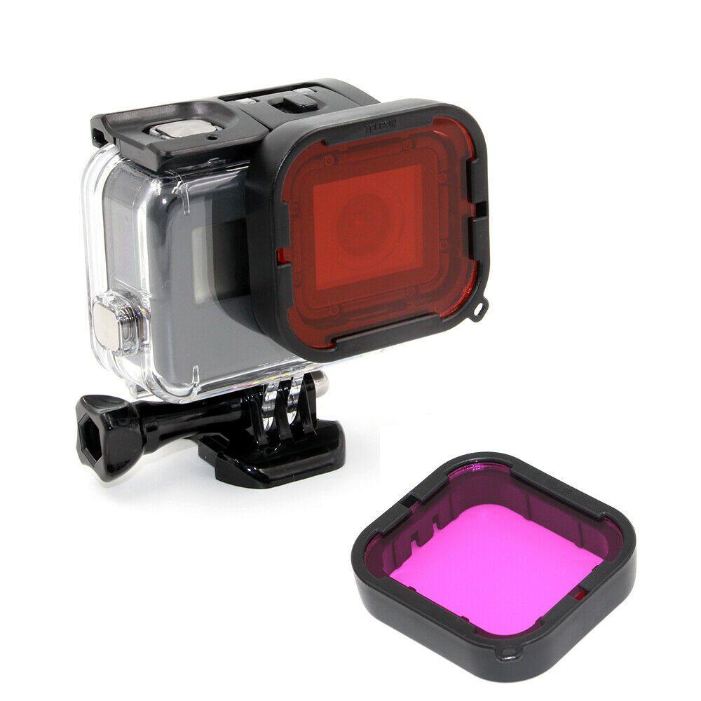 Kit Filtro Magenta e Vermelho para GoPro Hero 567 Black