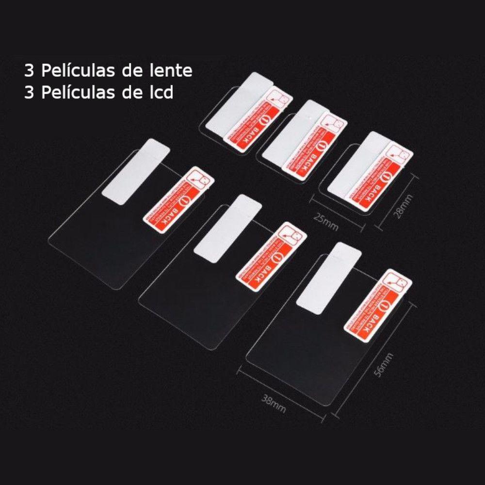 Kit Películas Telesin 3 de Lente e 3 para Lcd  GoPro 5, 6, 7 black