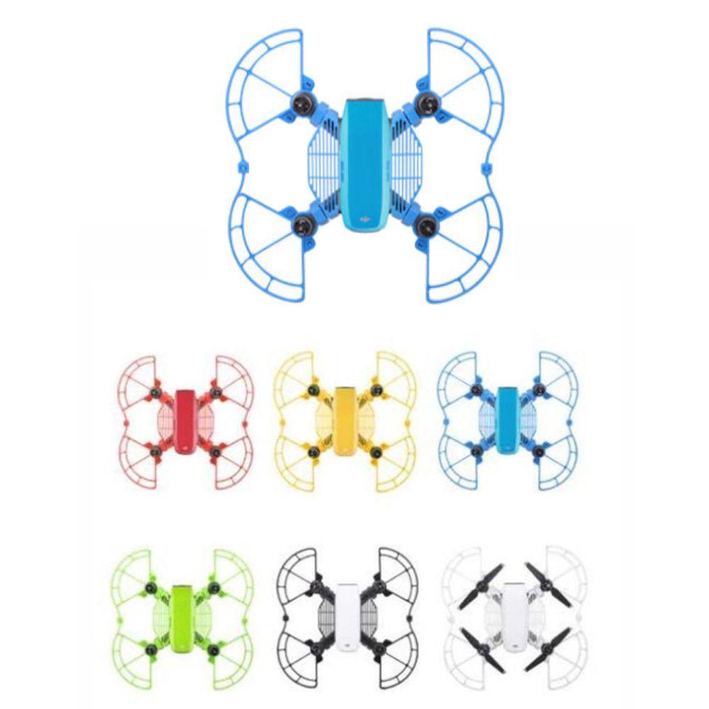 kit Proteção Azul para Drone DJI Spark: hélice + dedo + extensor trem de pouso