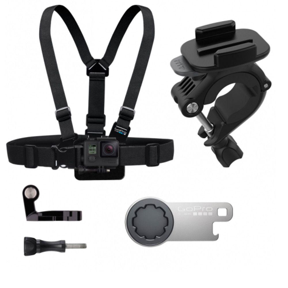kit Ski Bundle Original GoPro Suporte de Peito, Bike e Chave