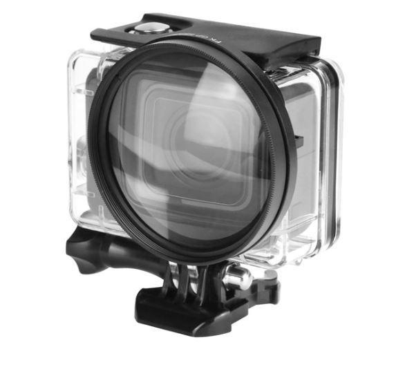 Lente Ampliação / lupa 10x 58mm Para GoPro 5/6 Black