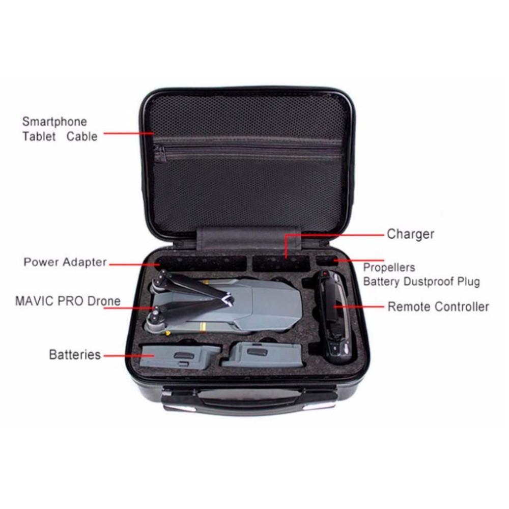 Maleta Rígida de mão para Drone DJI Mavic Pro e acessórios.
