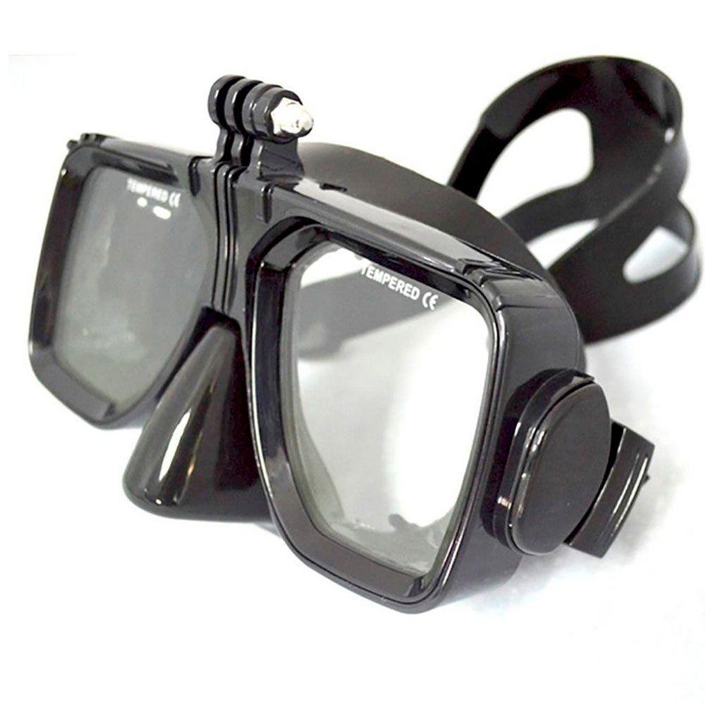 Máscara de Mergulho Óculos Preta para câmeras de ação GoPro SJCam