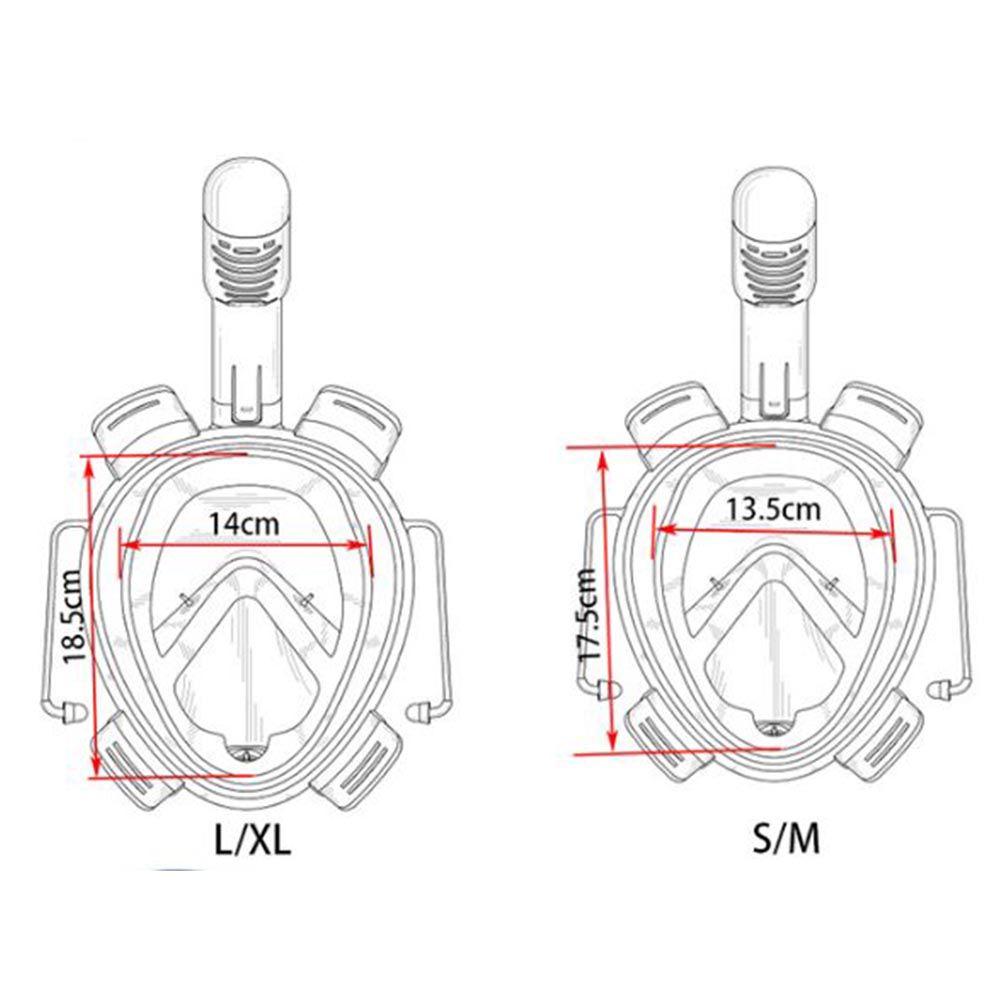Máscara De Mergulho Surface Rosa L/XL com adaptador para Câmeras de ação