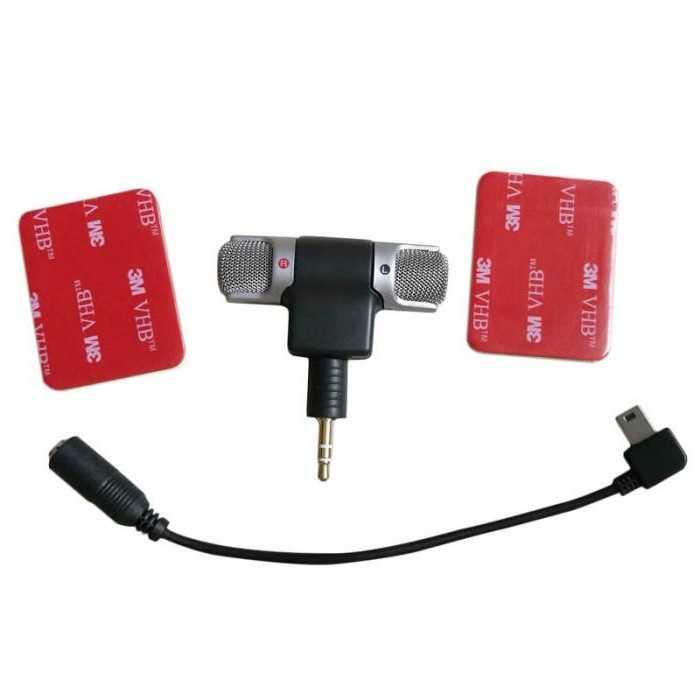 Microfone  Mic Externo Adaptador Adesivo 3,3+,4