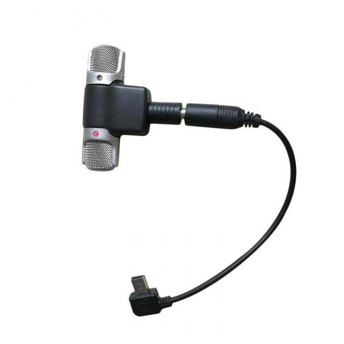 Microfone Externo + Cabo Adaptador e Adesivo GoPro Hero 3,3+,4